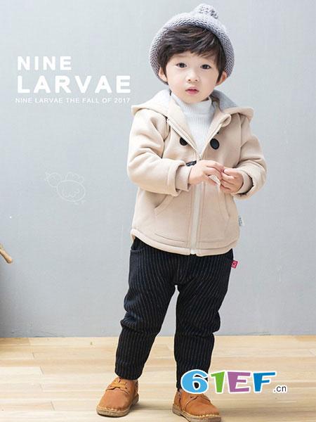 Nine Larvae九子鱼童装2018秋冬时尚韩版外套针织衫潮