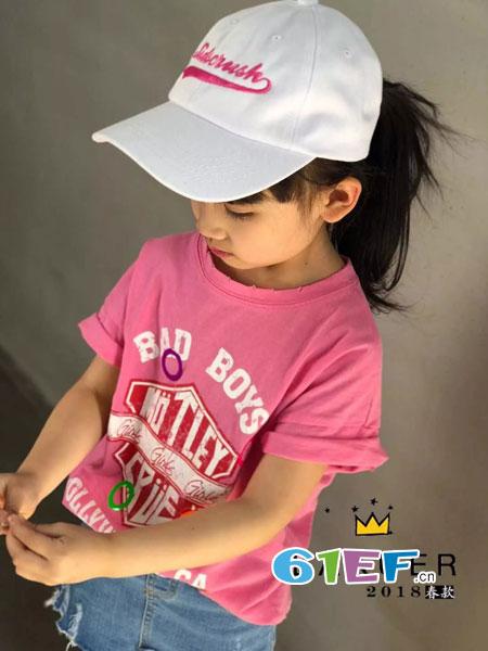 LAKUER拉酷儿童装2018春夏时尚休闲上衣中大童宝宝体恤打底衫