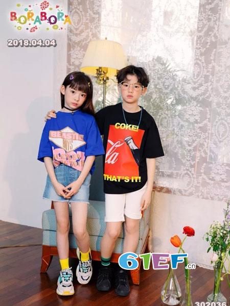 LAKUER拉酷儿童装2018春夏新款 男女童印花字母休闲个性T恤