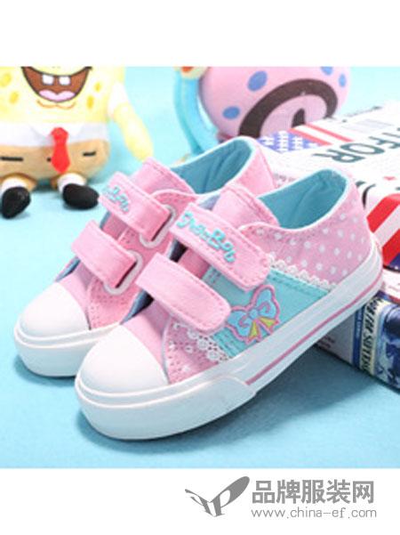 海绵宝宝童鞋个性魔术贴帆布鞋