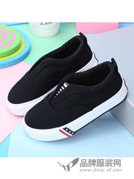 海绵宝宝童鞋黑色一脚蹬童鞋