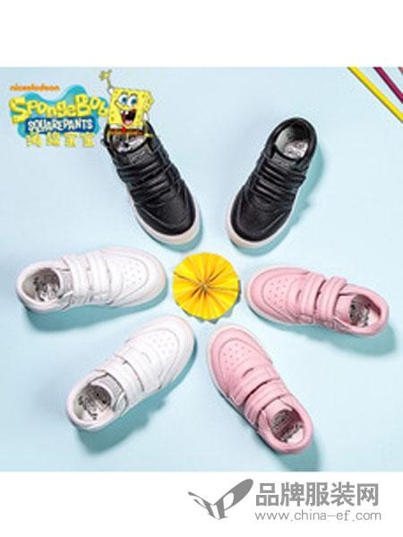 海绵宝宝童鞋运动鞋男童女板鞋PU