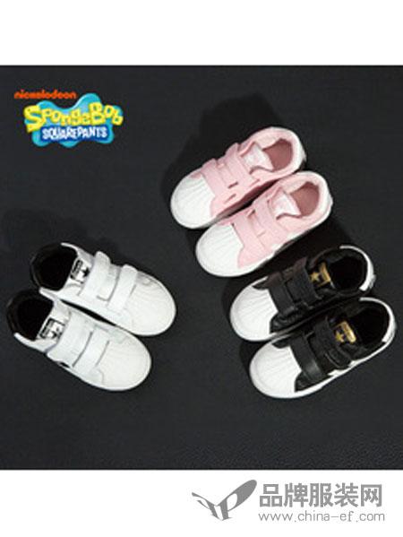 海绵宝宝童鞋运动鞋男童女贝壳头板鞋PU