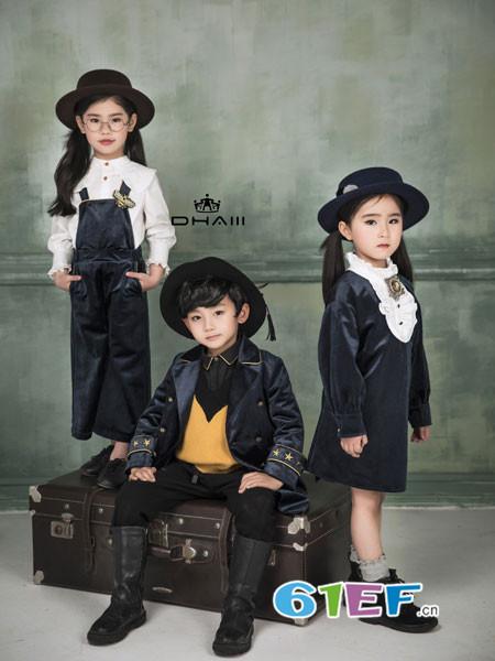 DHAiii东宫皇子童装2018秋冬长袖纯棉洋气娃娃领公主裙