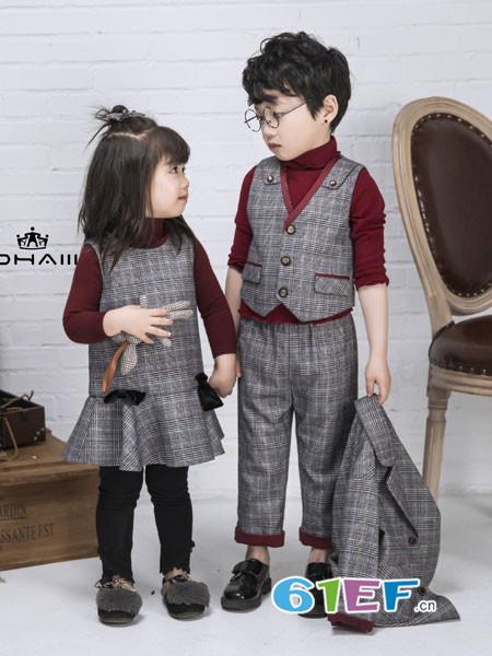 DHAiii东宫皇子童装2018秋冬马甲套装 儿童西装马夹两件套 花童小礼服