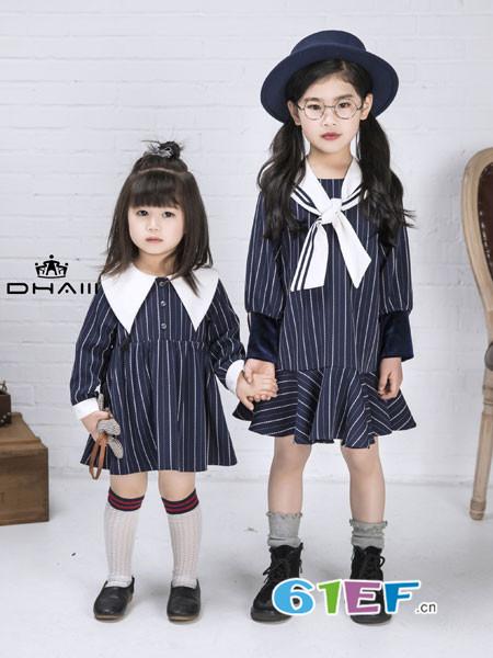 DHAiii东宫皇子童装2018秋冬纯棉长袖荷叶边公主娃娃裙