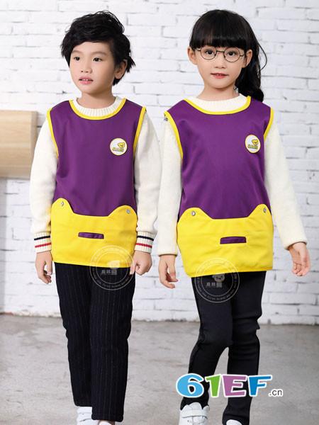 丘比熊童装2018秋冬校服中大童儿童徽章两件套童装