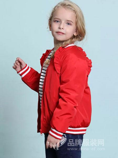 杰米兰帝童装2018秋冬新款女童外套儿童夹克薄款中大童上衣