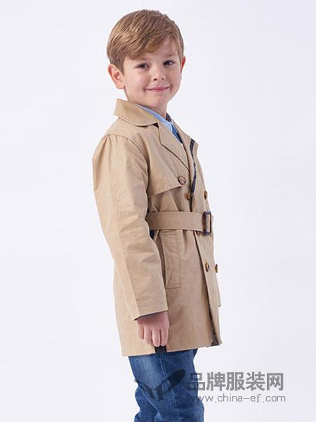 伊佳林 IKALI童装收腰绅士风衣