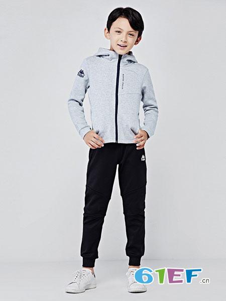 kappakids童装男童运动休闲外套针织开身帽衫