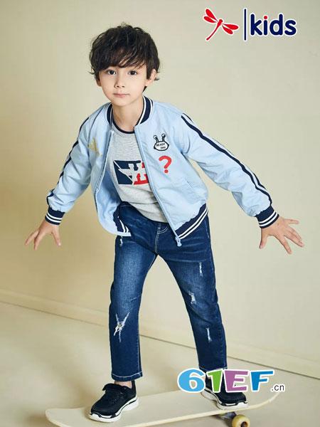红蜻蜓童装2018秋冬新款韩版休闲儿童夹克衫男孩帅气上衣潮