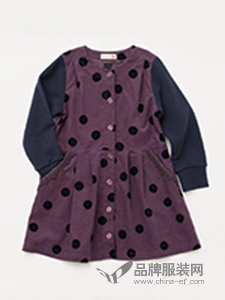 Knitplanne童装波点连衣裙