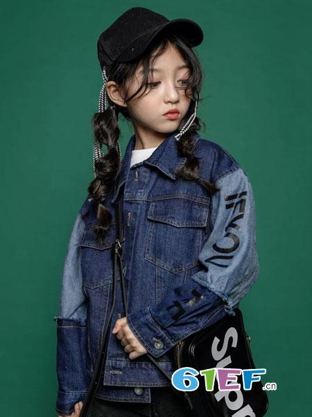 韩米娜风尚童装2018秋冬新款韩版时髦儿童短款夹克大童开衫外衣洋气