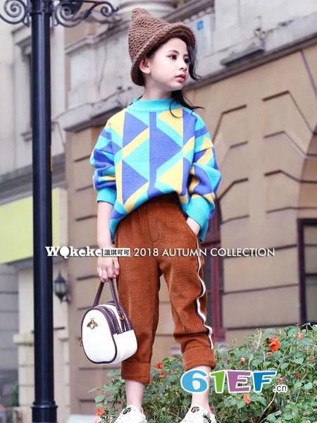 WQKEKE温琪可可童装2018秋冬儿童加厚打底衫童装针织衫韩版