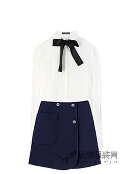 随记女装雪纺衬衫A字裙套装