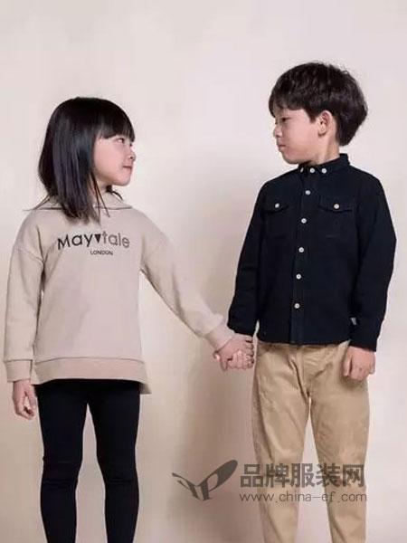 Mayotale童装2018秋冬空气棉方格撞色扣衬衫