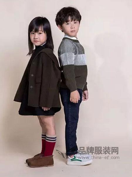 Mayotale童装2018秋冬黑色羽绒羊毛呢子大衣套装