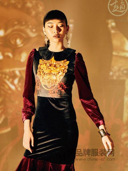 趙贝勒PRINCE ZHAO女装2018秋冬个性火焰图案长袖上衣