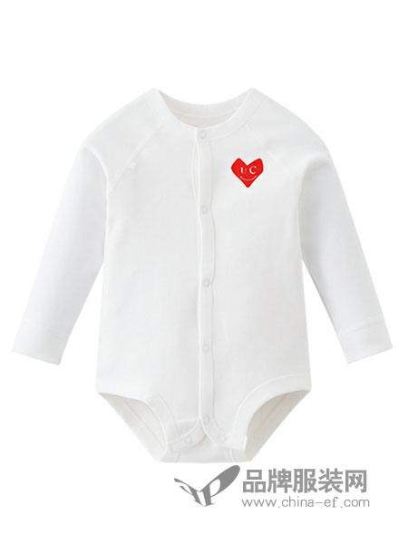 优起婴童智能衣童装2018秋季哈衣纯棉婴儿连体衣平纹双面