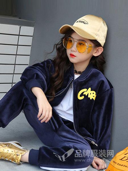 贝蒂小羊童装2018秋冬时髦洋气潮大童儿童时尚休闲套装