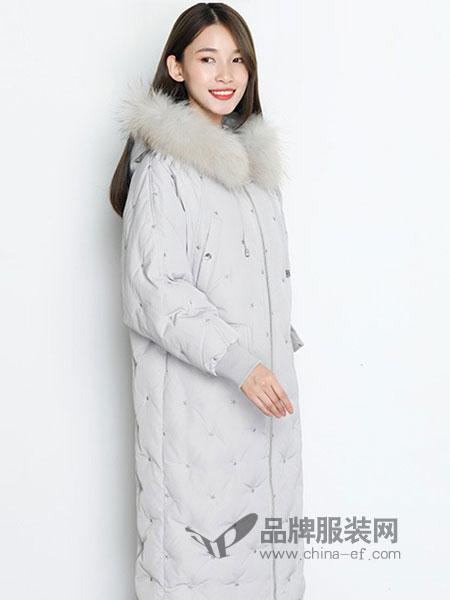 TR/BECA翠贝卡女装2018秋冬韩版毛领加厚棉服外套修身保暖棉袄