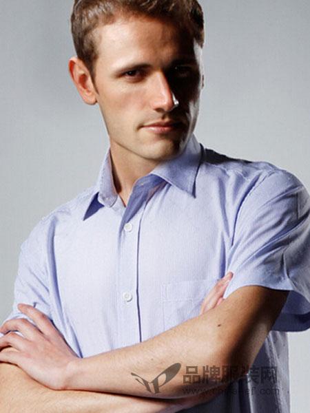 巴迪雷恩男装纯色衬衫