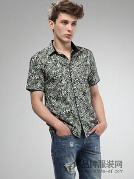巴迪雷恩男装图案衬衫