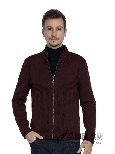 雷驰(LEICI)男装2018秋冬开衫休闲商务外套
