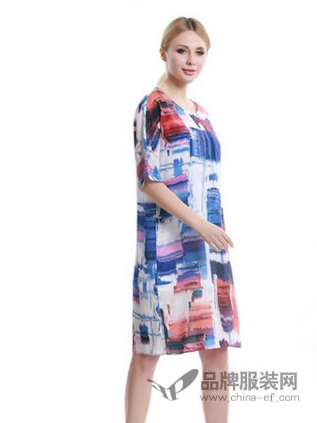 韩袖女装花纹连衣裙