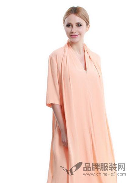 韩袖女装纯色宽松连衣裙