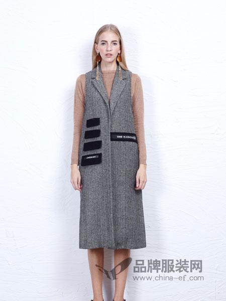 丹尼布鲁女装马甲条纹开衫新款百搭毛呢外套