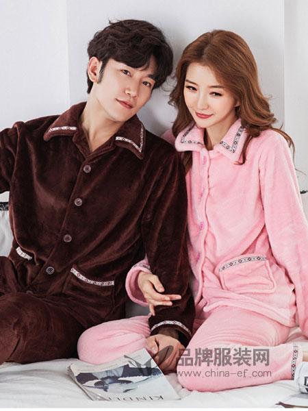 玫瑰春天内衣2018秋冬睡衣长袖长裤两件套珊瑚绒套装家居服