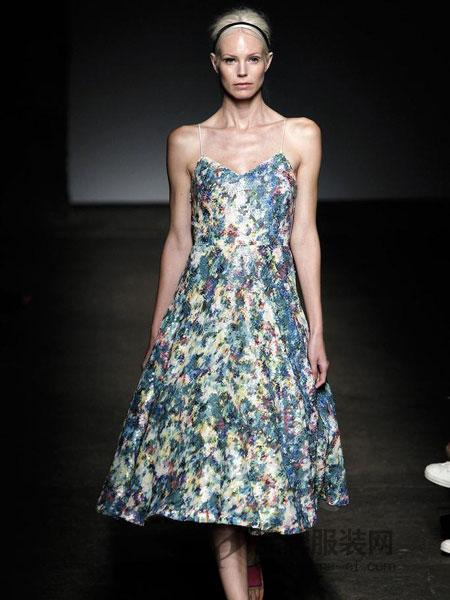 翠西・瑞斯女装吊带图案连衣裙