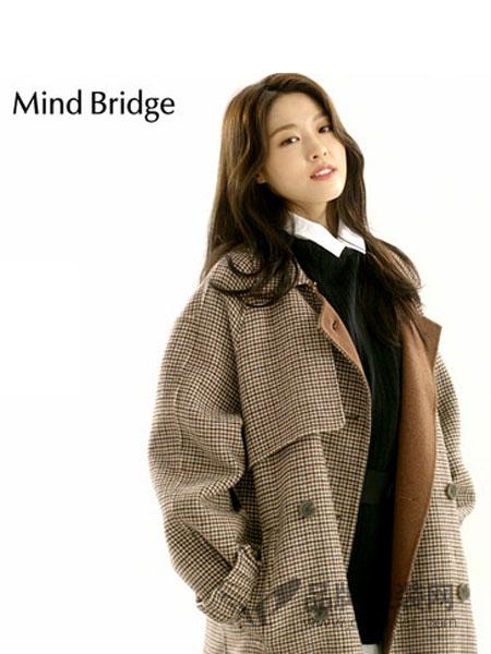 Mind Bridge女装2018秋冬中长款格子大衣
