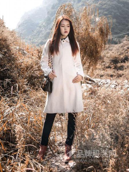 夢棲女裝2018冬季羊毛大衣過膝雙面呢純手工毛呢外套