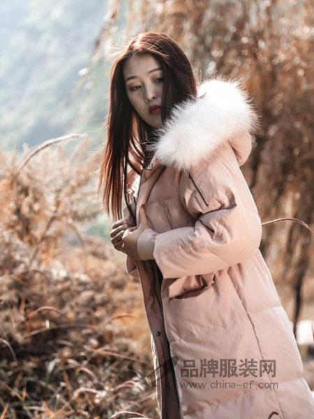 梦栖女装2018冬季韩版百搭时尚毛领中长款学生外套