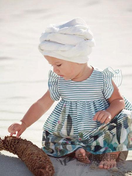 ILGufo童装条纹图案连衣裙