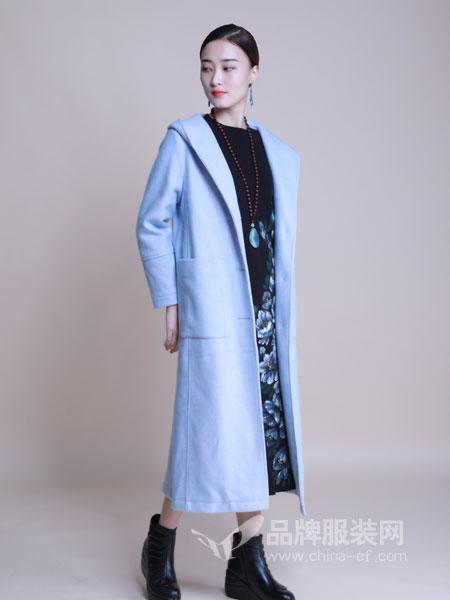 曼茜纱女装2018冬季新款双面呢羊毛大衣中长款过膝修身毛呢外套长款