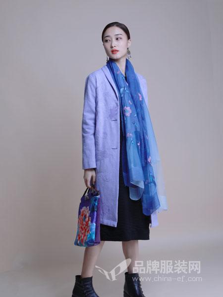 曼茜纱女装2018冬季羊毛双面呢大衣外套