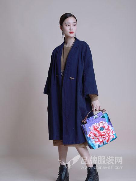 曼茜纱女装2018冬季中长款双面羊绒大衣宽松羊毛毛呢外套