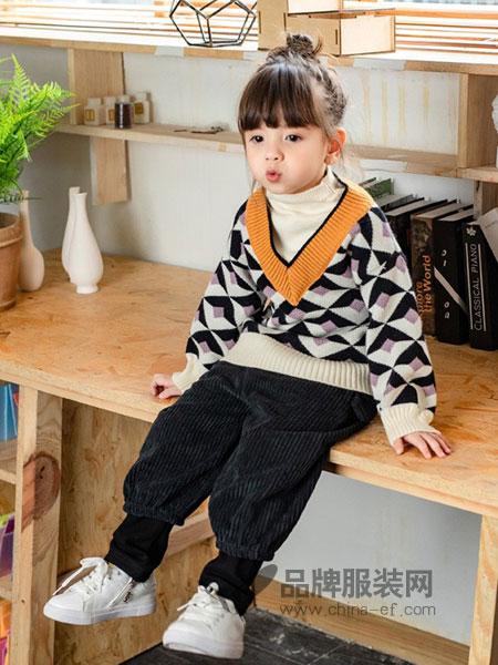 贝贝豆丁童装2018秋冬潮衣高领打底针织毛衫
