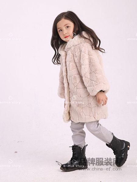 Annica艾尼卡童装2018秋冬连帽外套 儿童铺棉外套