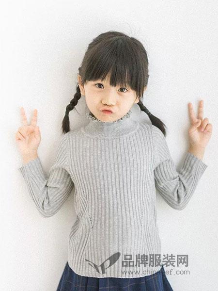派克叮当童装2018秋冬高领针织毛衣