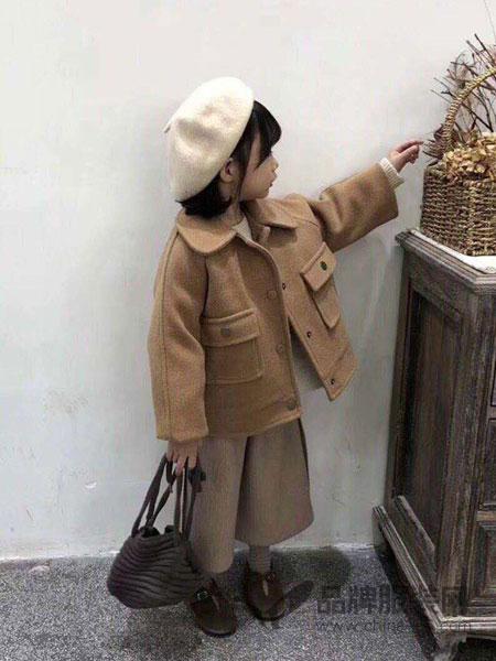 派克叮当童装2018秋冬韩版毛呢外套