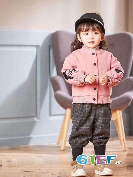 晗与熙童装2018秋冬纯棉针织百搭上衣外出毛衣潮