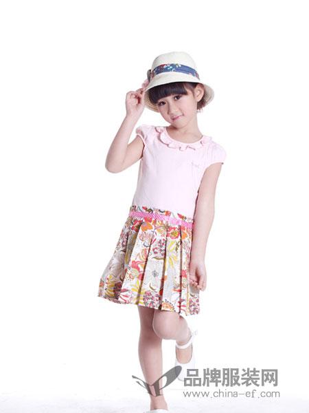 Aiciel艾夏尔童装拼接连衣裙