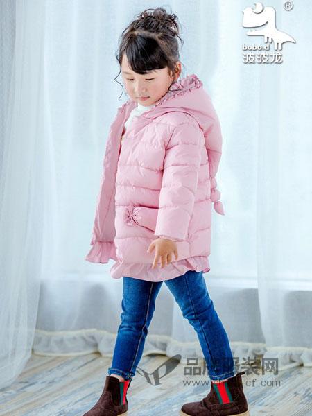 波波龙童装2018秋冬中大童中长款棉服洋气儿童棉袄外套