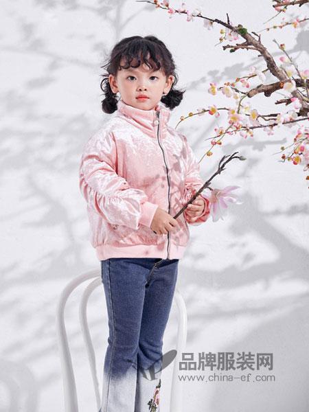 DIZAI棣仔童装2018秋冬新款丝绒夹克小个子韩版潮