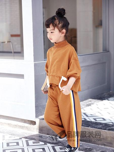 DIZAI棣仔童装2018秋冬女童连帽两件套时尚运动装潮