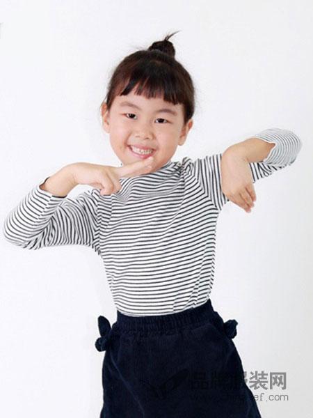 Uh MOI童装2018秋冬条纹长袖
